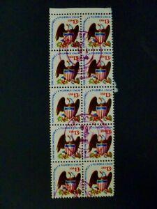 USA 1975 Scott #1596 Block of 10 Used Nice Postmark - See Description & Images