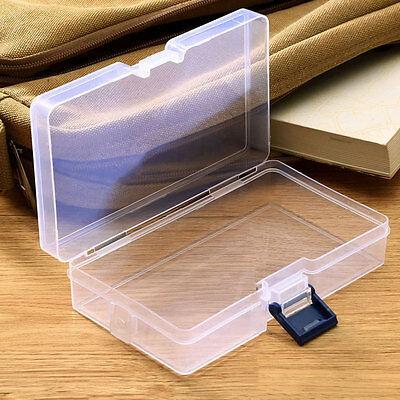 Plastic Transparent Storage Box Jewelry Craft Nail Art Bead Container Organizer