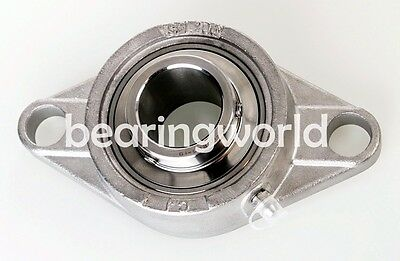 NEW High Quality SUCSFL205-25MM  25MM Stainless Steel 2 Bolt Flange Bearing