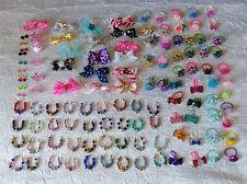 Littlest Pet Shop LPS RANDOM Lot of 15 Custom Bow Necklace & Earrings        #16