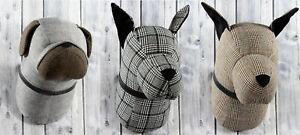 Hundekopf-Mops-Dogge-Wanddeko-Skulptur-Trophaee-Jagdtrophaee-Tierkopf-Wandskulptur