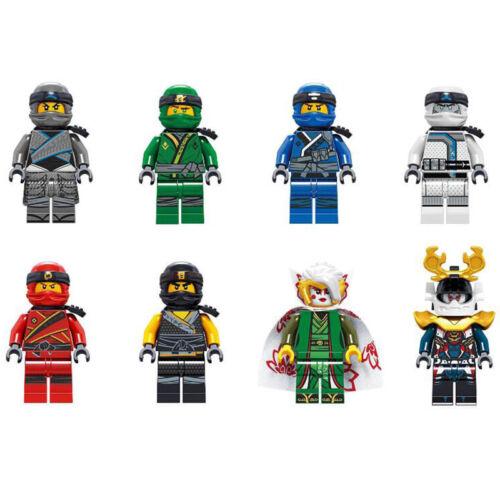 Ninjago Mini figure Fits Lego TOY Zane Jay Harumi Kai Nya Building Blocks 8pcs
