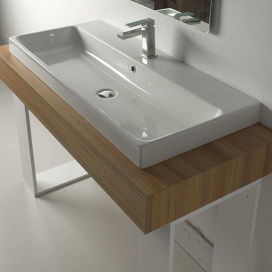 Lavandino Lavabo Moderno Design Consolle Basic da da da appoggio in ceramica bianco | Divers Les Types Et Les Styles  e75cc6
