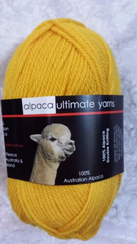 Alpaca Ultimate 8 Ply Bright Acacia Yellow 100/% High Quality Alpaca Luxury