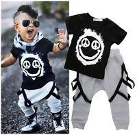Stylish Kids Baby Boys Clothes Tops T-shirt Harem Pants  Outfits 2PCS Set 1-6Y