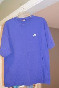 3a491d886d79 Mens CHAMPION Royal Blue Crew Neck Short Sleeve T Shirt C Logo Size ...