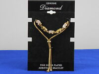 Macy's Gold Plated Genuine Diamond Accent Elephant Pully Bracelet $100