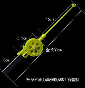 Mini Short Portable Ice Fishing Rod Reel Combos Light Travel Fishing