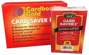 Cardboard Gold PSA BGS Graded Card Saver 1 - 200 Ct Case Holders w/ Storage Box