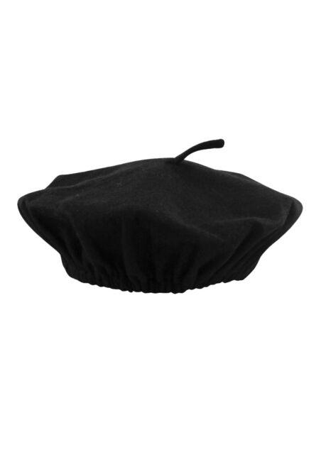 c42a14e130f Unisex Black FRENCH BERET HAT Mime Cap Fancy Dress Costume Accessory One  Size