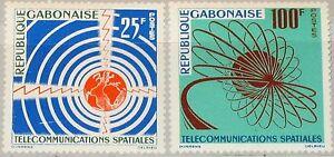 GABON-GABUN-1963-185-86-167-68-Space-Communication-Satelliten-Telekommunikation