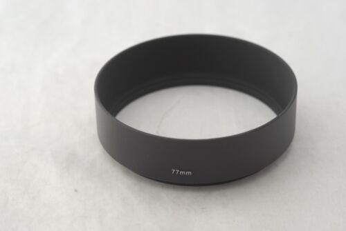 New Metal 77mm Standard Screw-in Lens Hood