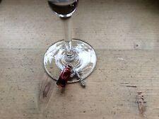 wine Glass charm Blood Cross Goth Halloween Wedding Party