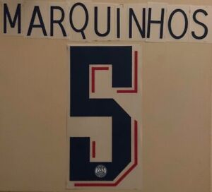 FLOCAGE  #5 Marquinhos Third 2019-2020 Paris Nameset. Champions League
