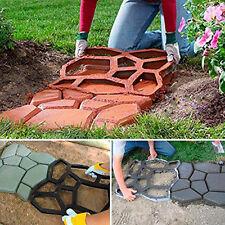 DIY Driveway Paving Pavement Mold Concrete Step Stone Path Walk Maker Moulds