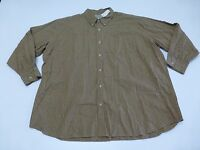 Us Expedition Mens Size 3xl Brown & Black Checkered Button Front Shirt