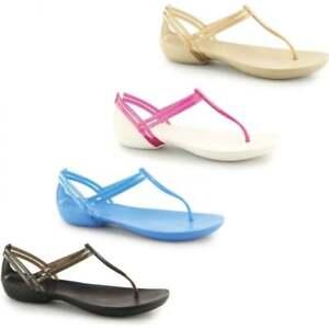 f411b3ca5 Image is loading Crocs-ISABELLA-T-STRAP-SANDAL-Ladies-Womens-Summer-