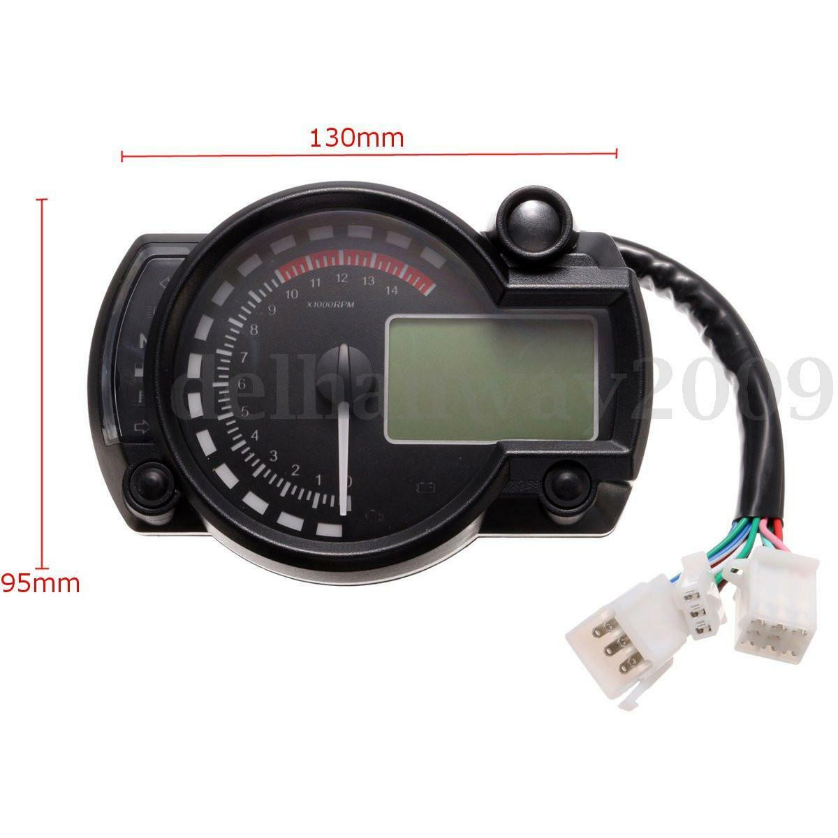 Digital speedometer gauge : Universal digital lcd backlight motorcycle speedometer