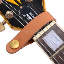 Orange Acoustic Guitar Neck Strap Button Hook Extender PU Leather