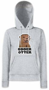 Damen Kapuzenpullover Hoodie Otter Odder Animal Fishing Wildlife Protection jSc3R5q4AL