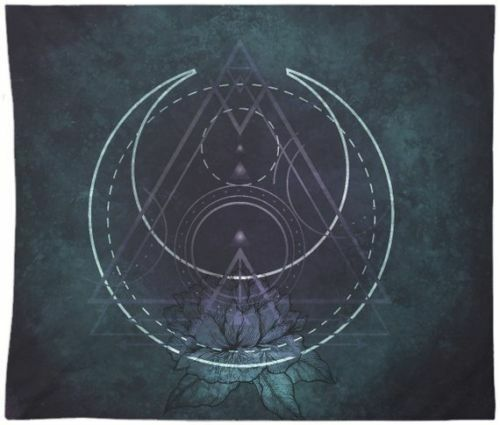 Gothic Tapestry Wall Hanging Sacred Geometry Art Tapestry For Room Bedspread