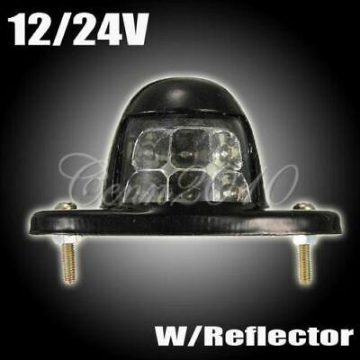 Universal Number Plate License Step Light 6 LEDs For Trailer Truck Reflector