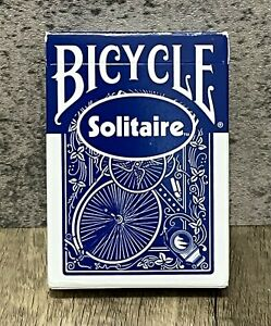 Sealed Box - Vintage Bicycle Solitaire BLUE Playing Cards - Blue Ohio Seal