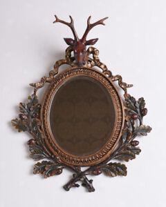 Wall-Mirror-Deer-039-s-Head-Mirror-Hunting-Room-Kaminspiegel-Deco-Mirror-Stag
