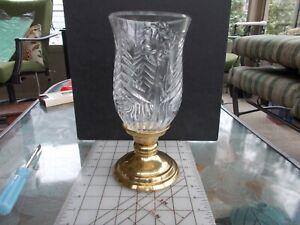 St.George Crystal 8 Toll Hurricane Lead Crystal Vase Lamp
