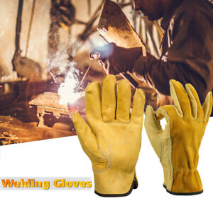 1pair High Quality Cowhide Welders Welding Glove Work Safety Protection Gauntlet