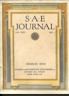 S.A.E. Journal 3/19290Society of Automotive Engineers ...