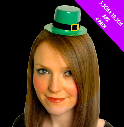 Pack 24 x St Patricks Day Leprechaun Mini Top Hat Irish Fancy Dress Costume 0044