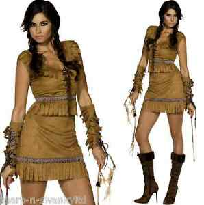 Image is loading Ladies-Sexy-Native-American-Red-Indian-Squaw-Cowboy-  sc 1 st  eBay & Ladies Sexy Native American Red Indian Squaw Cowboy Fancy Dress ...