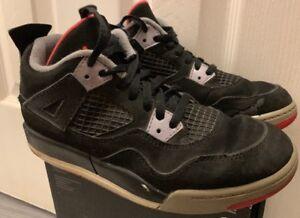 d7ca8974e499f5 Nike Air Jordan Retro 4 Bred Black Red Boys Sz 2y 308499-089