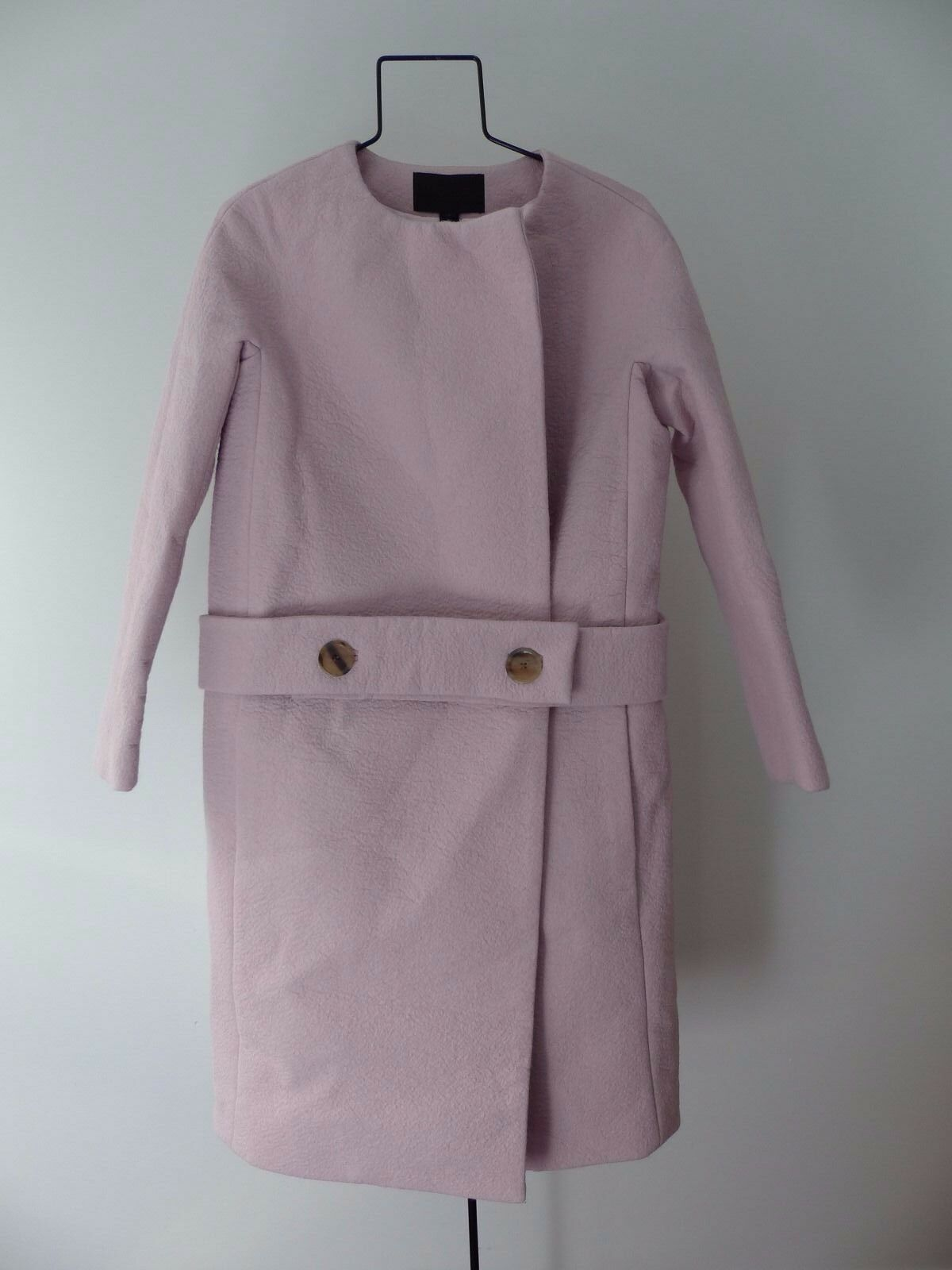J. Crew COLLECTION DROP-WAIST COLLARLESS COAT size 4 pink  sold out