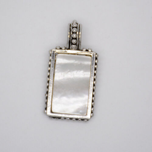 lia sophia jewelry silver plated shell hollow pendant necklace slide for women