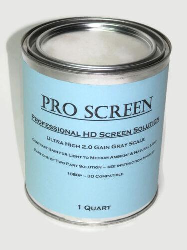 HD Projector Projection Screen Paint Solution Black Border Bonus Tape NEW