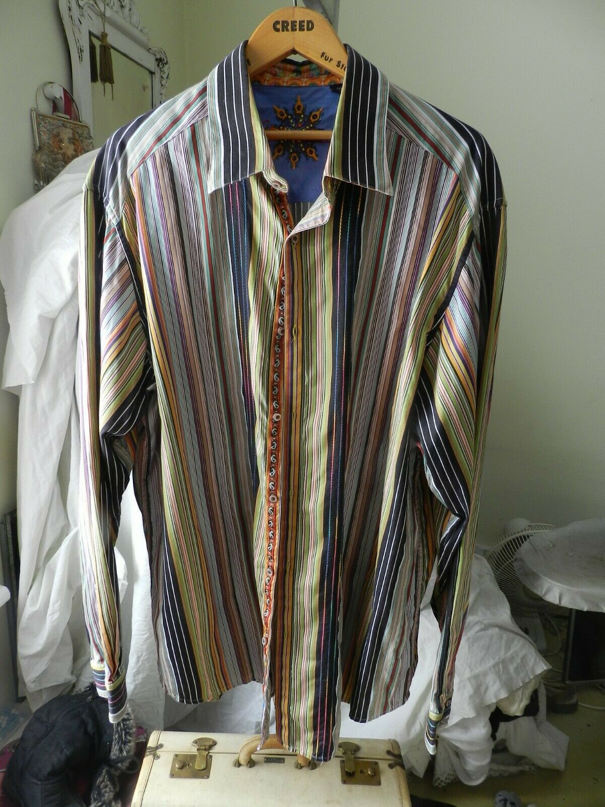 Robert Graham Mens Knowledge Wisdom Truth Embroidered Dress Shirt Size 2XLT