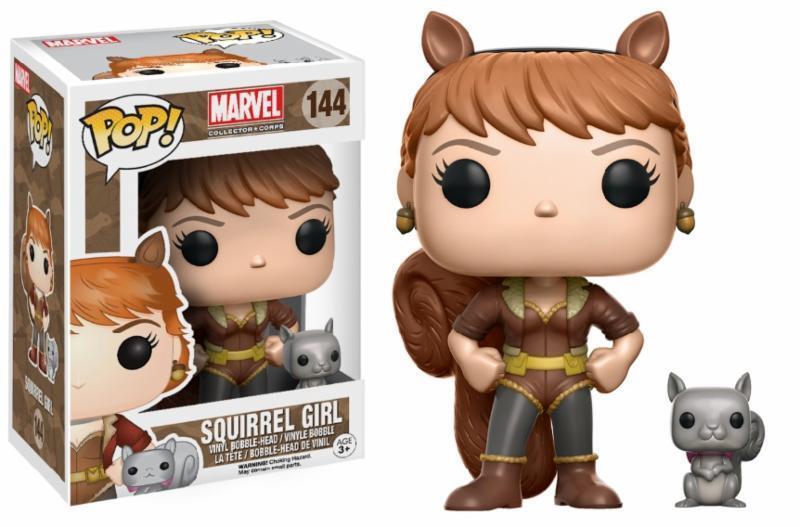 popular Squirrel Girl ardilla pop  Marvel Marvel Marvel Collector Corps  144 vinilo personaje funko  saludable