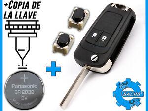 LLAVE-SE-ADAPTA-A-OPEL-INSIGNIA-ZAFIRA-ASTRA-CORSA-CR2032-COPIA-DE-LA-LLAVE
