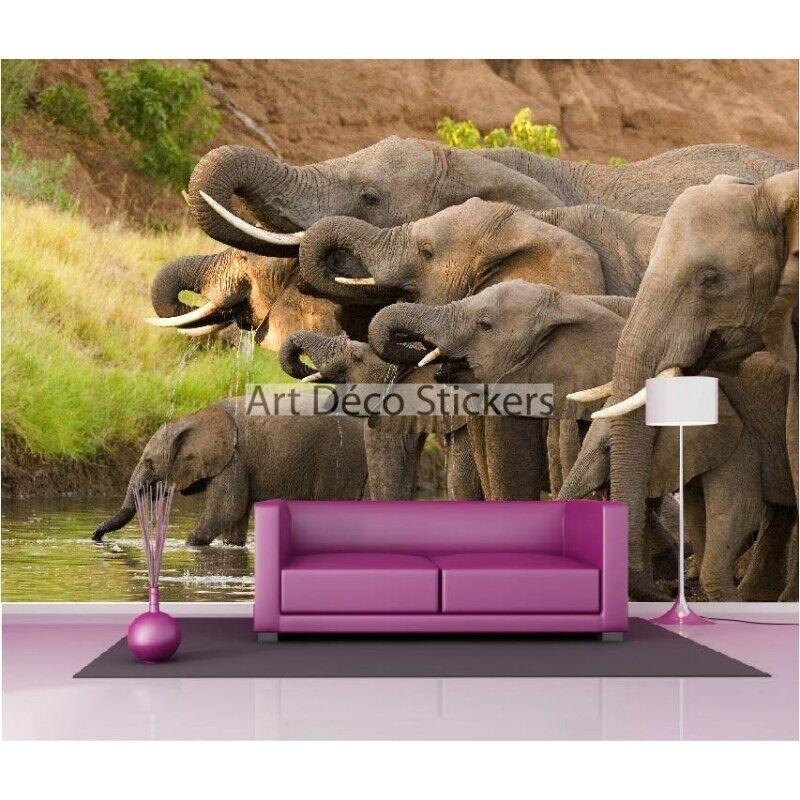 Pegatinas de Pared Gigante Decoración  Elefantes 1591