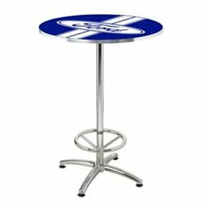 Ford Stripes Cafe Pub Table * Perfect For Game Room/Man Cave * Free USA Shipping