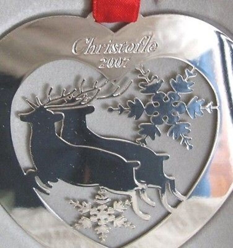 NEW IN BOX CHRISTOFLE PARIS FRANCE SilberPLATE 2007 Reindeer CHRISTMAS ORNAMENT
