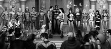Nathan Szerdy SIGNED DC Comic JLA Art Print ~ Superman Wonder Woman Batman Flash