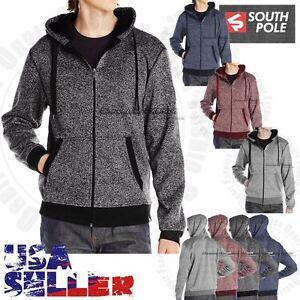 Sothpole Mens Warm Hoodie Zipper Jogger Casual Sweat Shirt Fleece Sweater Coat