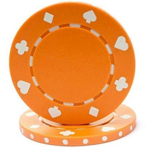 Set of 100 Trademark Poker 10-1080ORG-100 Global Poker 100 Suited Chip 11.5 g