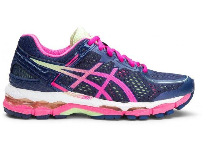Women Asics Gel-Kayano 22  Indigo Blue/Pink/Pistachio Running Shoe Sneaker 7 B