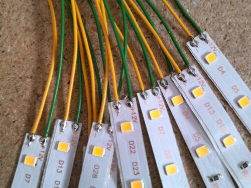 15 Stück LEDs 5 cm Modellbau Hausbeleuchtung mit ca 20 cm Kabel Farbe warmweiß