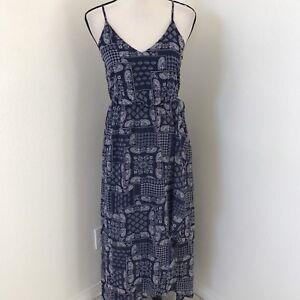 37b706f636f SIENNA SKY Full Length Chiffon Dress Boho size XS Faux Wrap Lined ...