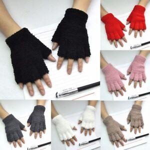 Women-Men-Gloves-Fingerless-Fleece-Half-Fingers-Fuzzy-Warm-Winter-Wool